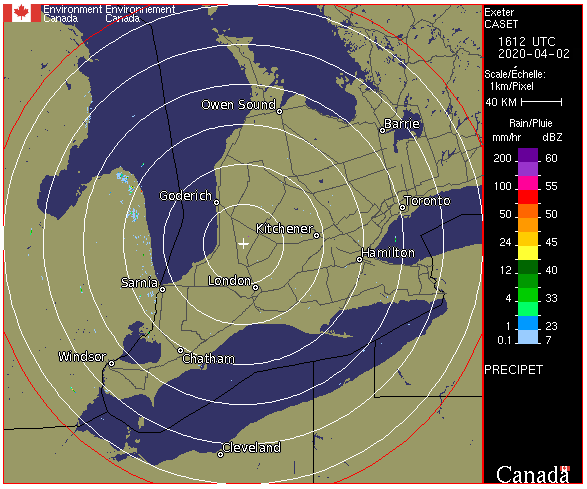 Weather Radar - Southwestern Ontario